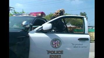 Un politist isi freaca pula uitandu-se la o prostituata de pe marginea drumului pana